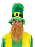 Adult Leprechaun Hat with Beard [SP46B]