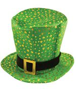 Adult Leprechaun Hat with Shamrocks