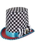 Adult Mad Hatter Check Top Hat [BH652]