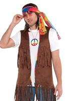 Adult Male Long Hippie Vest