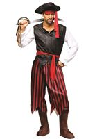 Adult Caribbean Male Pirate Costume
