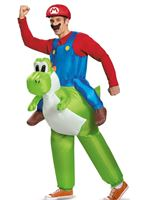 Adult Inflatable Mario Riding Yoshi Costume [85150]