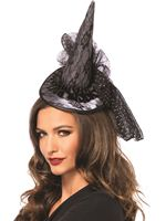 Adult Mini Lace Witch Hat