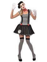 Adult Miss Mime Costume [9903384]