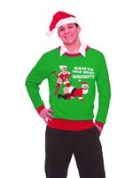 Adult Naughty Santa Sweater