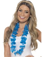 Adult Neon Blue Hawaiian Lei