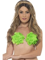 Adult Neon Green Hawaiian Bra