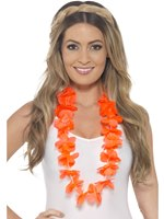Adult Neon Orange Hawaiian Lei