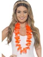 Adult Neon Orange Hawaiian Lei