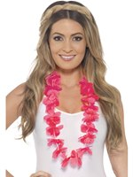 Adult Neon Pink Hawaiian Lei
