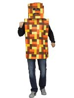 Adult Orange Pixel Robot Costume