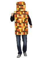 Adult Orange Pixel Robot Costume [3132B]