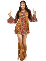 Adult Peace & Love Hippie Costume