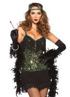 Adult Peacock Flapper Costume [85442]