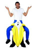 Adult Piggy Back Banana Costume
