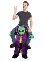 Adult Piggy Back Alien Costume