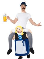 Adult Piggy Back Bavarian Beer Maiden Costume