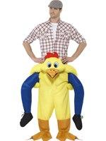 Adult Piggy Back Chicken Costume [48812]
