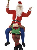 Adult Piggyback Elf Costume [48817]