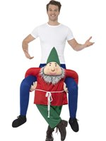 Adult Piggy Back Gnome Costume