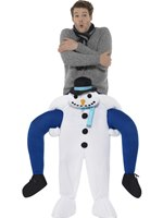 Adult Piggy Back Snowman Costume