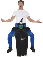 Adult Piggy Back Witch Costume