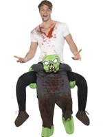 Adult Piggy Back Zombie Costume [49671]