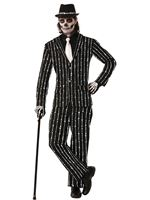 Adult Pin Striped Bone Suit Costume [AC628]