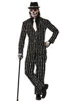Adult Pin Striped Bone Suit Costume [AC628]