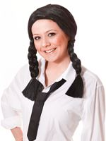 Adult Black Pigtails Wig