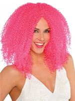 Adult Pink Crimped Wig