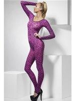 Adult Pink Leopard Print Bodysuit [26807]