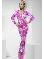 Adult Pink Tie Dye Bodysuit [26809]
