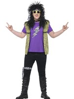 Adult Plus Size 80s Rock Star Costume