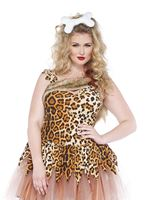 Adult Plus Size Cave Girl Cutie Costume