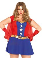Adult Plus Size Comic Book Girl Costume