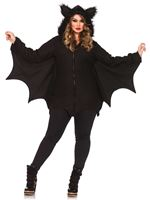 Adult Plus Size Cozy Bat Costume