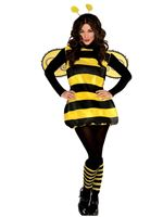 Adult Plus Size Darling Bumblebee Costume