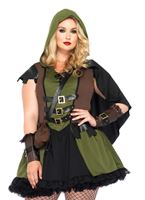 Adult Plus Size Darling Robin Hood Costume [85281X]