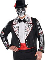 Adult Plus Size Day of the Dead Senor Tailcoat [848831-55]
