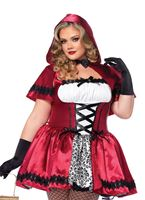Adult Plus Size Gothic Red Riding Hood Costume