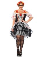Adult Plus Size Lovely Calavera Costume [85557X]