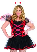 Adult Plus Size Lovely Ladybug Costume [83652X]