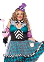 Adult Plus Size Manic Mad Hatter Costume