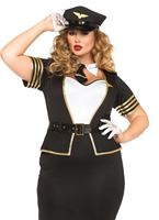 Adult Plus Size Mile High Pilot Costume