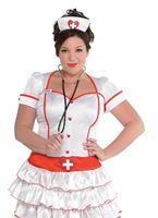 Adult Plus Size Nurse IV Costume