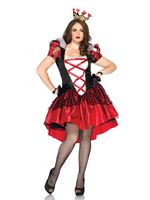 Adult Plus Size Royal Red Queen Costume