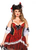 Adult Plus Size Shapewear Pirate Costume [85482X]