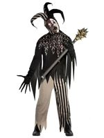 Adult Plus Size Twisted Jester Costume