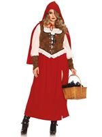Adult Plus Size Woodland Red Riding Hood Costume